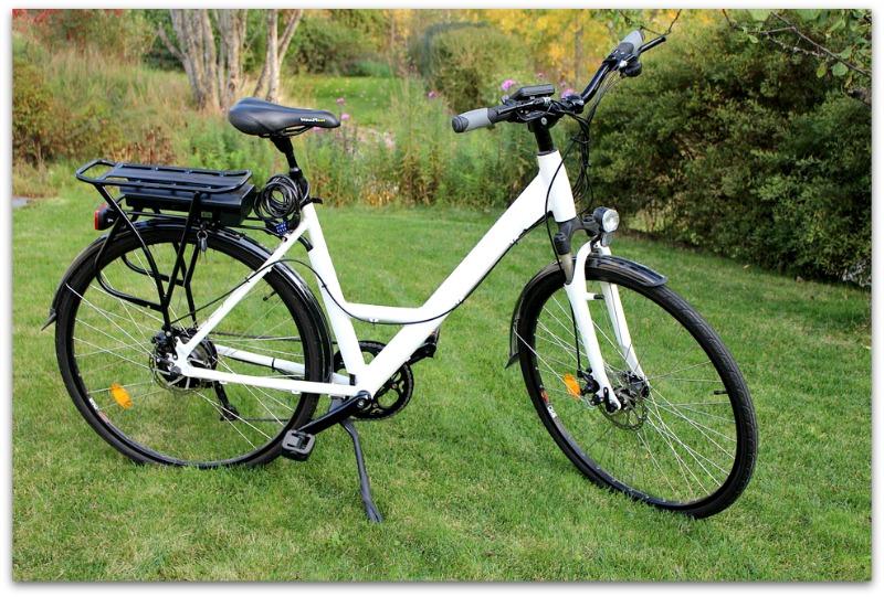 Zoom sur le vélo de ville électrique